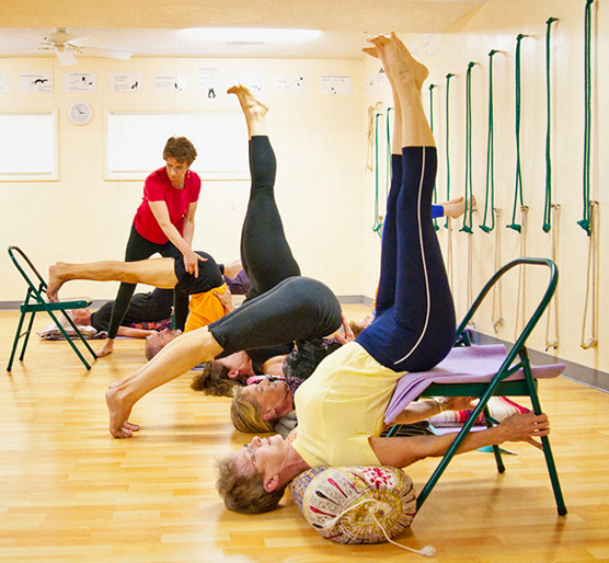 Yoga workshop march 28 working with chairs north for Chaise yoga iyengar