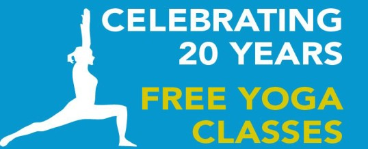 Free Yoga Classes – 20 Year Celebrations