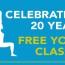Free Yoga Classes – 20 Year Celebrations