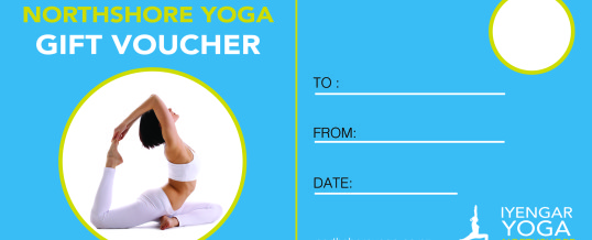 Iyengar Yoga Gift Vouchers